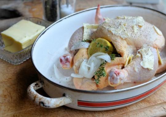 Butter Basted Roast Chicken
