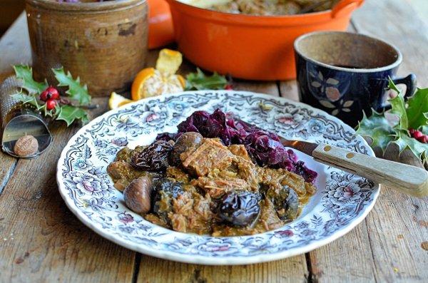 Christmas Eve Comfort Food - Christmas Carollers' Casserole -  Elizabethan Spiced Beef Stew