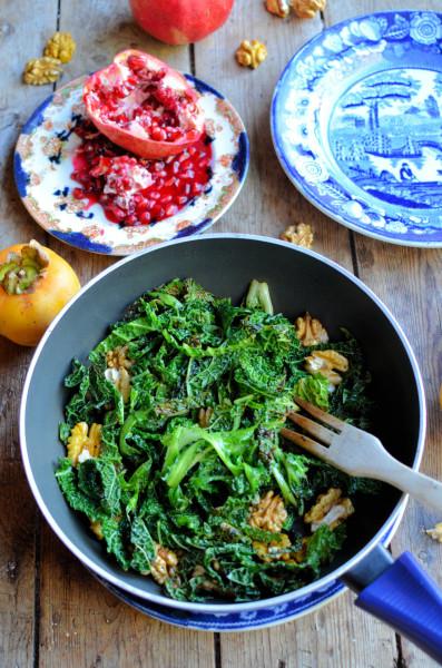 Kale in pan