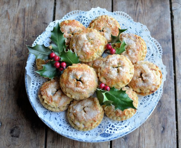 Sugar Frosted Orange and Brandy Mince Pies