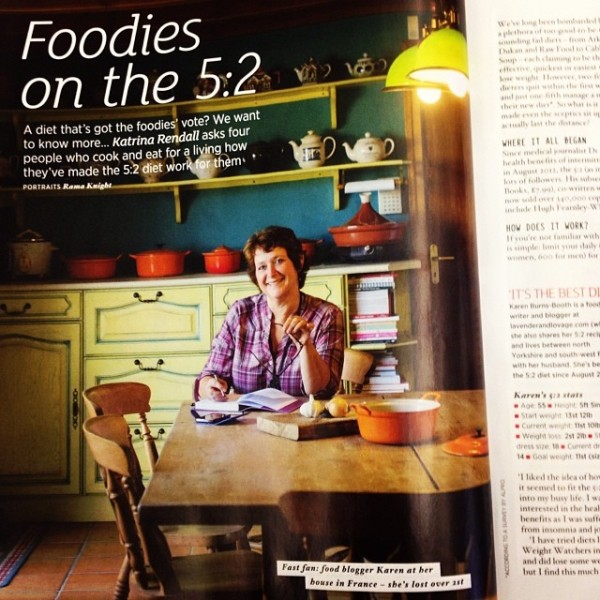 Karen Burns-Booth in The Sainsbury's Magazine February 2014