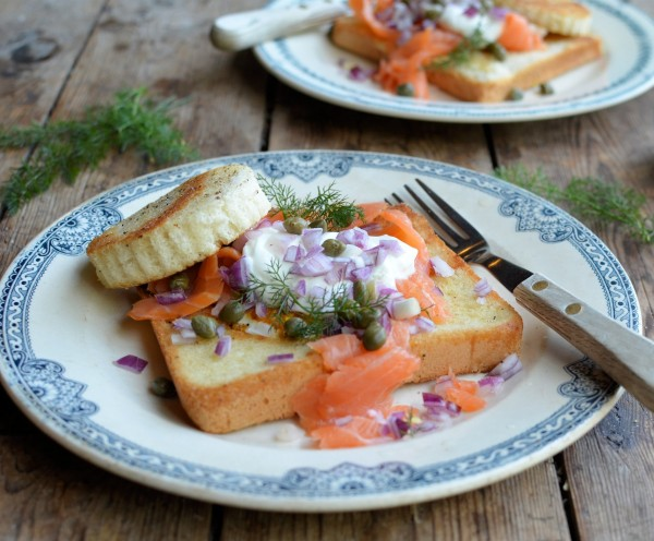 """Smoked Salmon """"Egg in a Basket"""" (Egg in a Hole)"""
