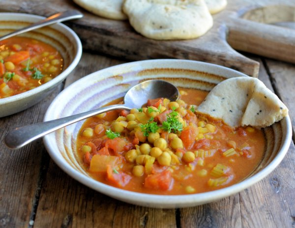 Moroccan Harissa and Chickpea Potage (Soup)