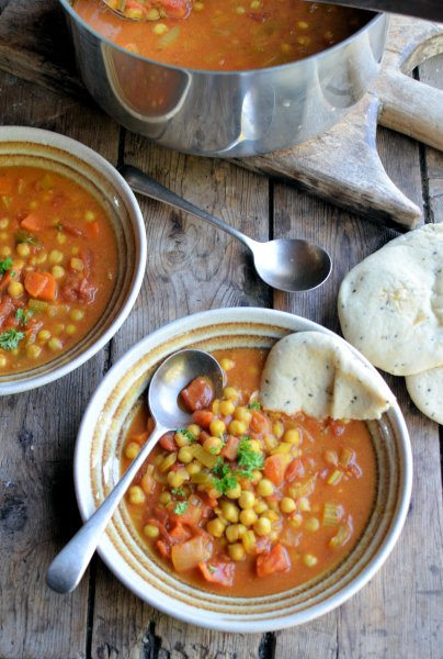 On the Spice Trail: Moroccan Harissa and Chickpea Potage (Soup) Recipe