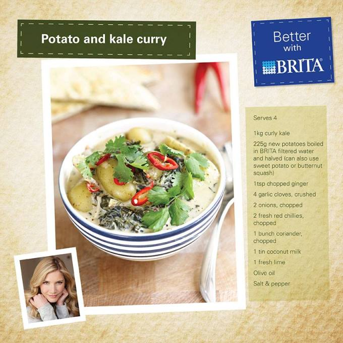Potato and Kale Curry - Lisa Faulkner - BRITA