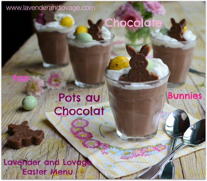 Chocolate Mousse with Mini Eggs and Cream