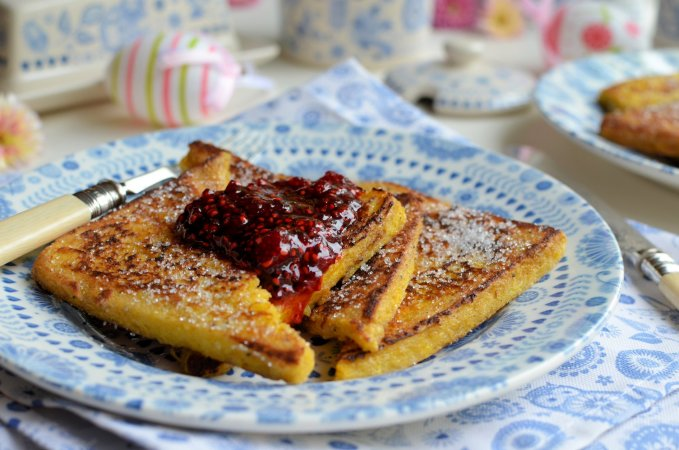 "Raspberry & Vanilla ""Pain Perdu"" (French Toast)"