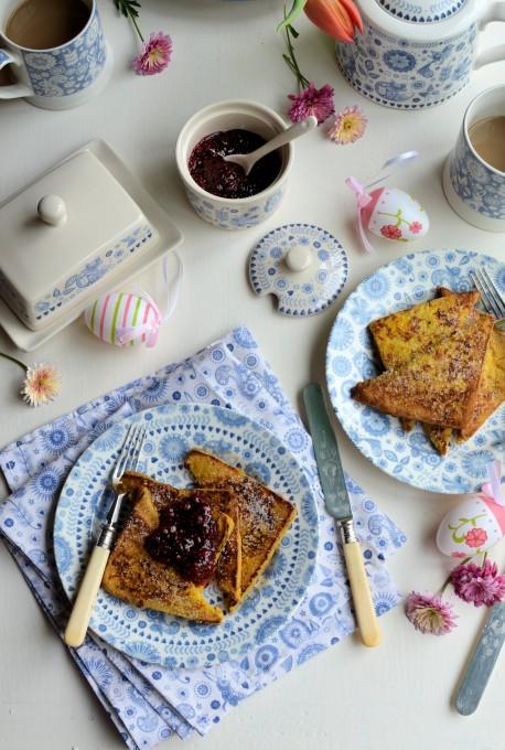 "Easter Eggy Bread: Raspberry & Vanilla ""Pain Perdu"" (French Toast)"