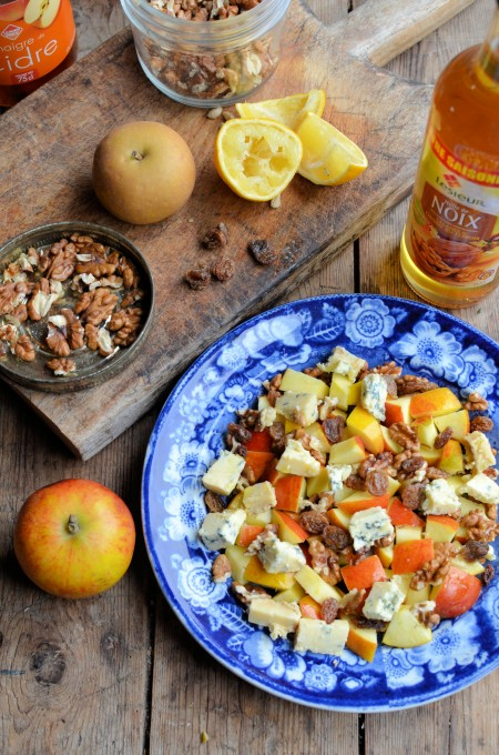 A Simple Salad Recipe for Spring: English Apple and Walnut Salad