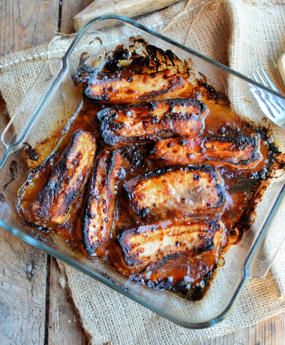 Oven Baked BBQ Pork Belly Slices