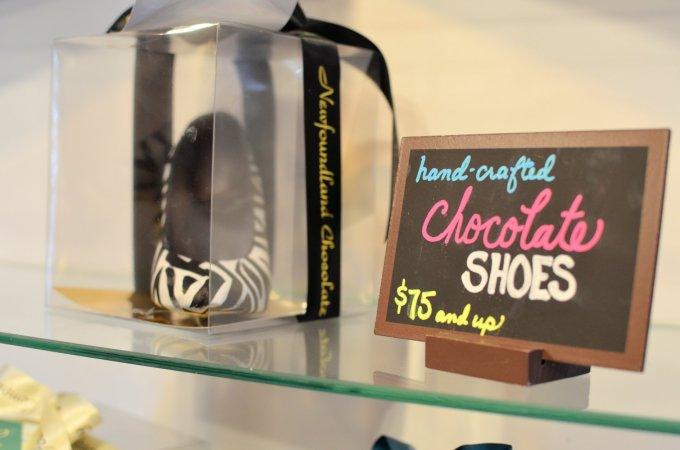 Chocolate Shoes at the Newfoundland Chocolate Company
