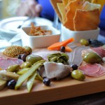 Chinched Charcuterie Platter with Home-made Crackers and Bread Sticks