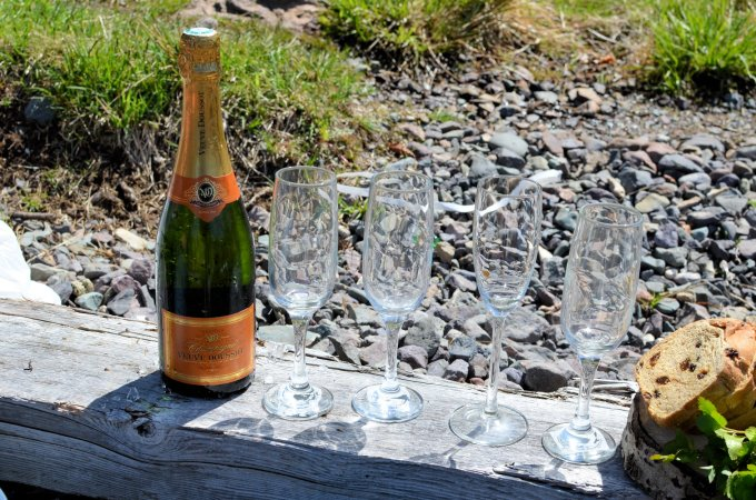 Champagne on the beach at Avondale, NL