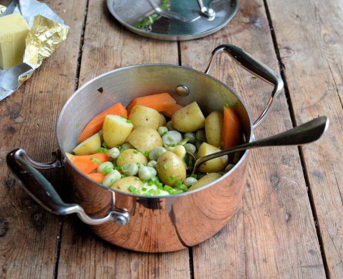 Summer Vegetable Medley with Chive Butter