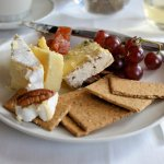 Somerset Brie, Blue Stilton and Black Bomber Cheese served with Quince Paste, Grapes, Nuts and Crackers