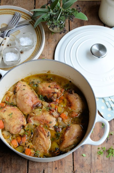 "Cast Iron Recipes! Cooking with ""Le Creuset"": Comfort Chicken Casserole"