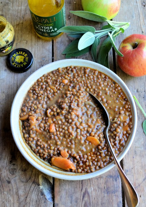 French style Braised Lentils