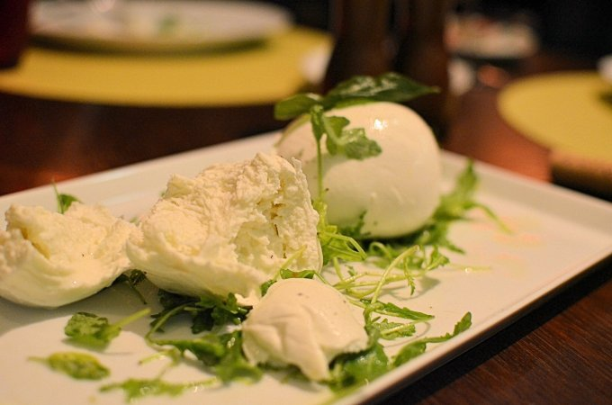 Buffalo mozzarella or Mozzarella di Bufala