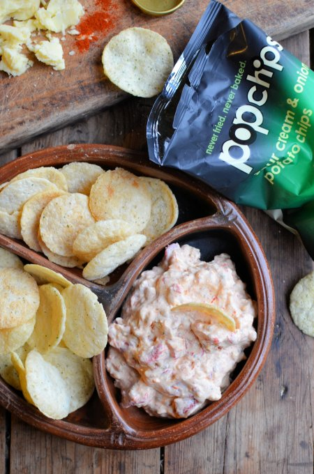 Smoky Low Calorie Cheese & Pimento Dip