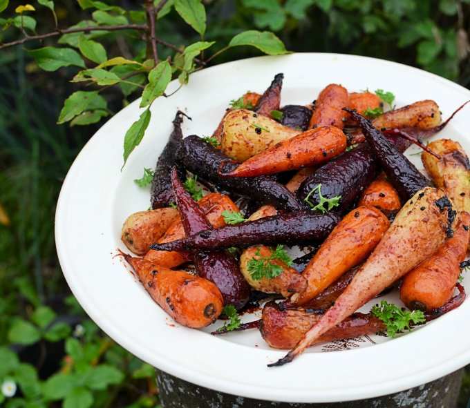 Sticky Roast Chantenay Carrot Medley with Pomegranate Molasses