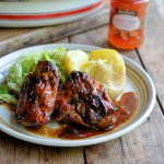 The Great Potato Debate and Sticky Christmas Marmalade Chicken Recipe