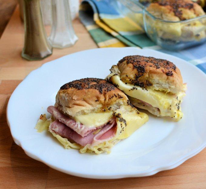 Baked Ham and Swiss Cheese Sliders
