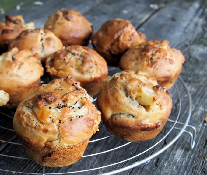 Pear,Walnut & Goat's Cheese Breakfast Buns (Muffins)