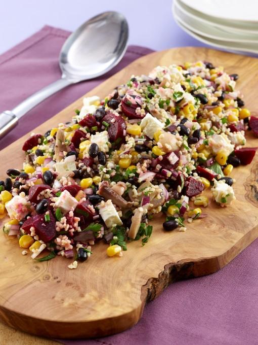Black Bean, Bulgher Wheat & Feta Salad (James Martin) LR(2)