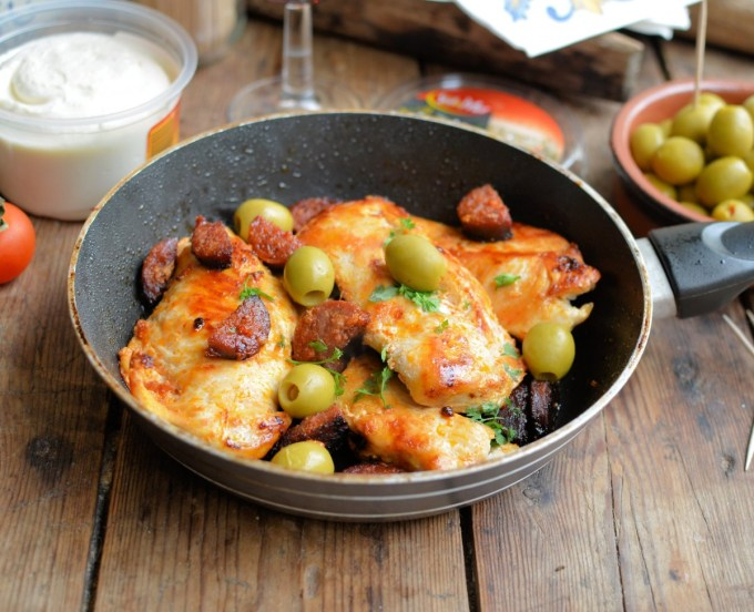 Spanish Chorizo Chicken with Olives