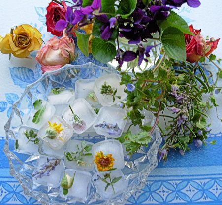 Freshness Frozen, Frozen Edible Flower Ice Cubes and Ice Sculptures!