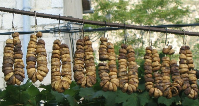 Figs drying in Montenegro