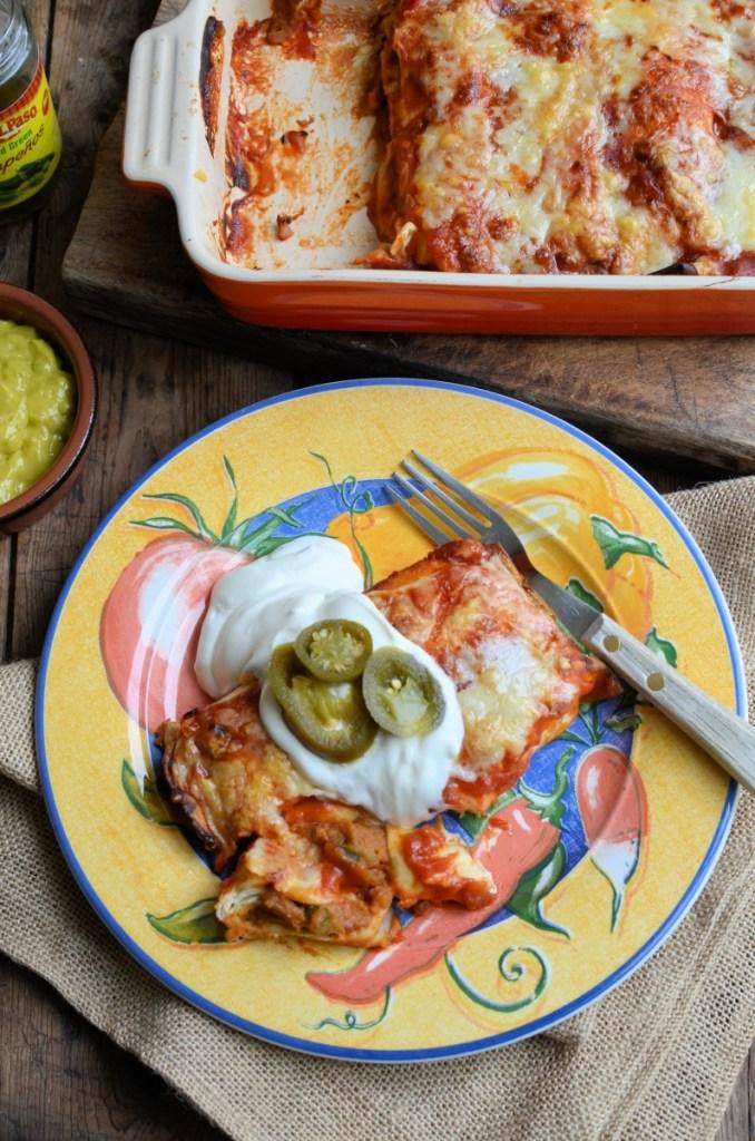 Fiesta! Smoky Sweet Potato, Bean and Chilli Enchiladas