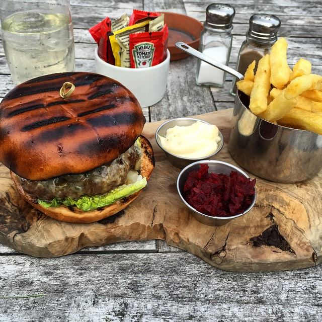 Gourmet Burger and Chips
