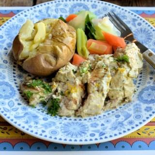 Pan Fried Lemon and Garlic Chicken