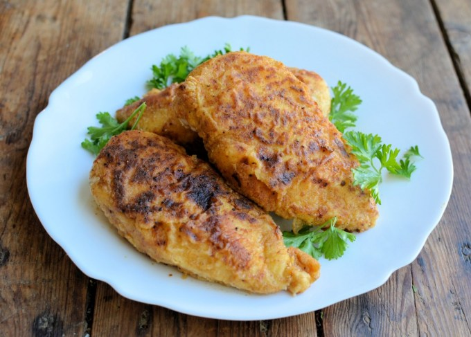 "Low-Fat ""KFC"" Oven Fried Chicken"
