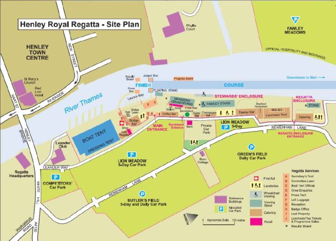 HENLEY ROYAL REGATTA site plan