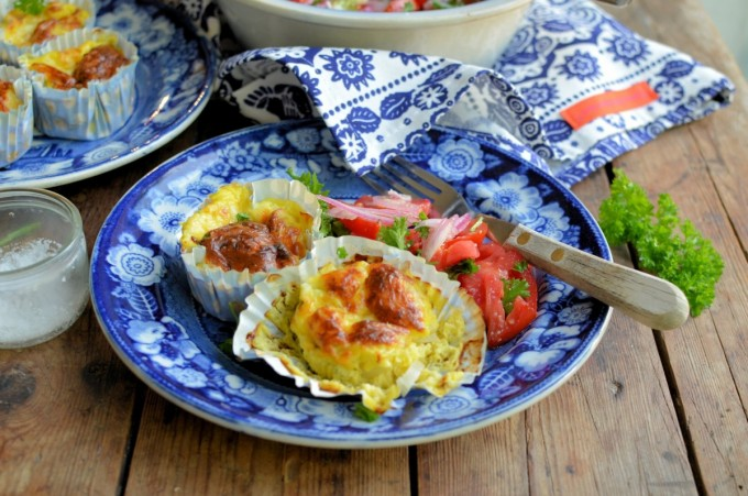 Baked Mini Cheese & Onion Omelettes (4)
