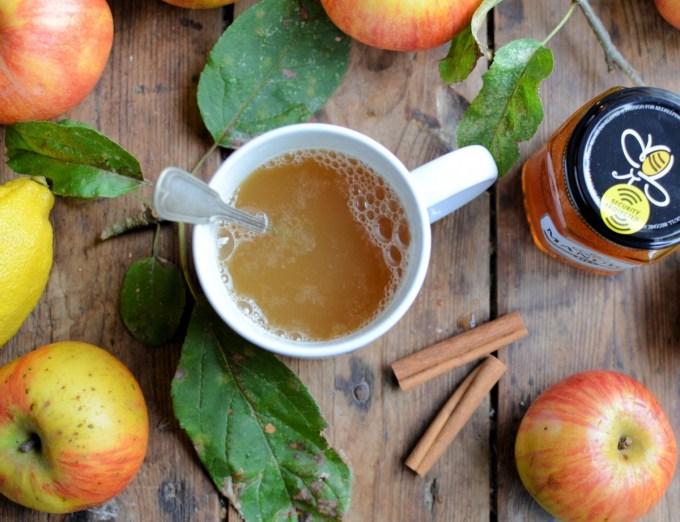 A delicious winter beverage that is packed with vitamins and infection fighting Manuka honey; perfect to ward off colds and flu' or just as a comforting fire-side drink.