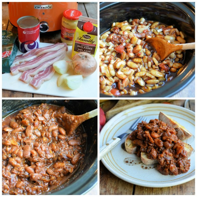 Collage Slow Cooker Boston Baked Beans