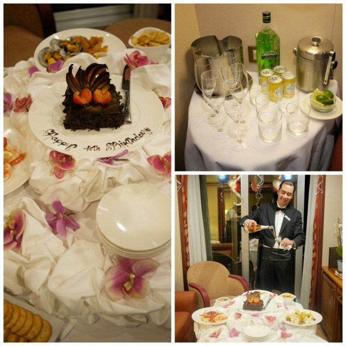 Albert sets up a Birthday Party in my Suite