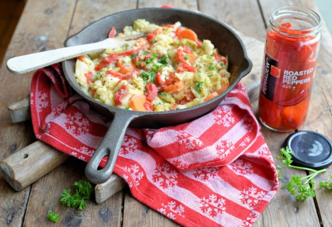 Bubble and Squeak with Peppadew Peppers