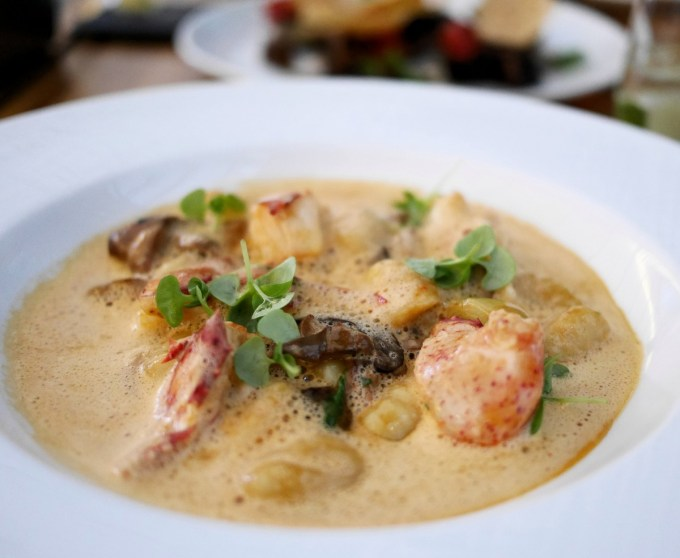 Lobster Gnocchi at The Ritz in Montreal