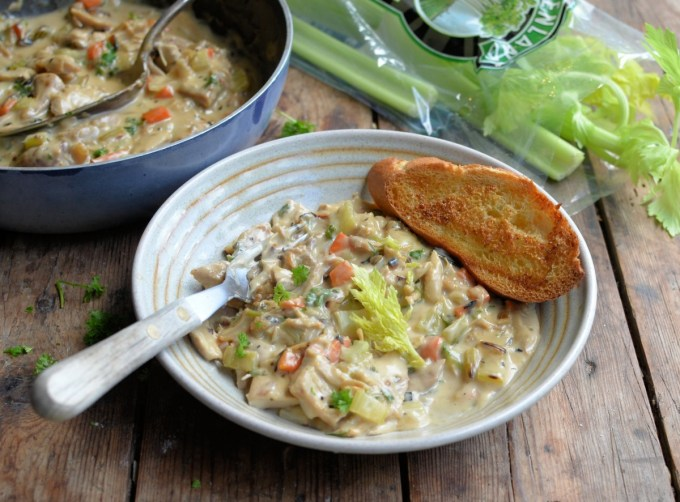 North Country Creamed Turkey & Celery Hash