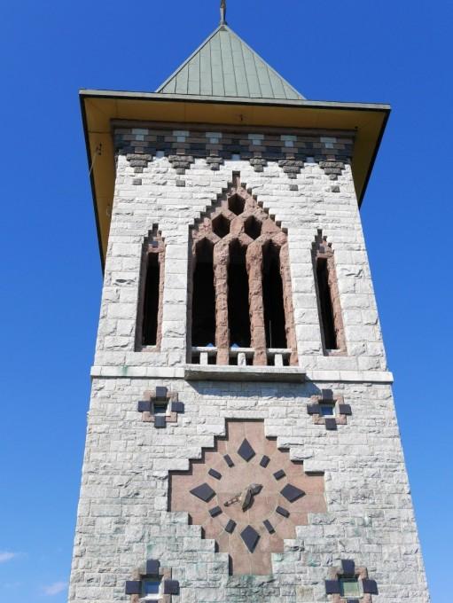 Bell tower at Abbaye de St-Benoît-du-Lac
