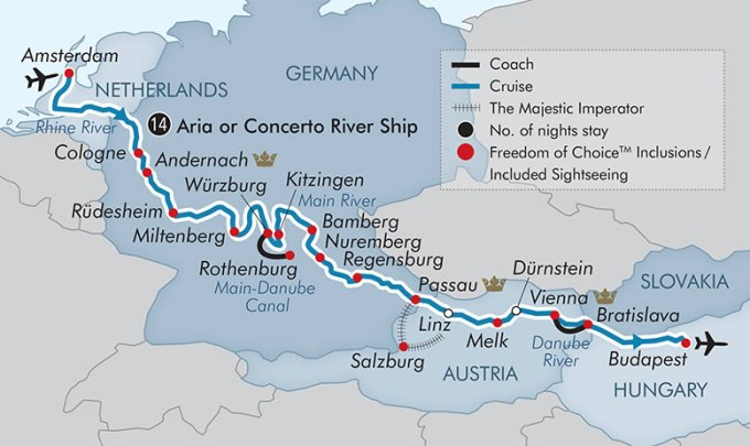 APT River Cruise Map