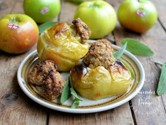 Savoury Sausage and Sage Baked Apples