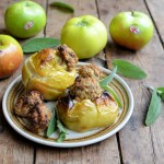 Savoury Sausage and Sage Roast Apples