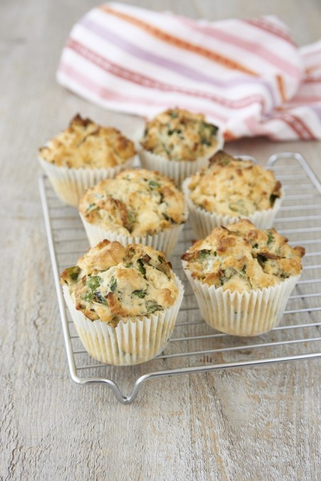 Quinoa, Feta cheese and Spinach Breakfast Muffins