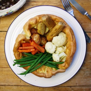 Yorkshire pudding dinner plate