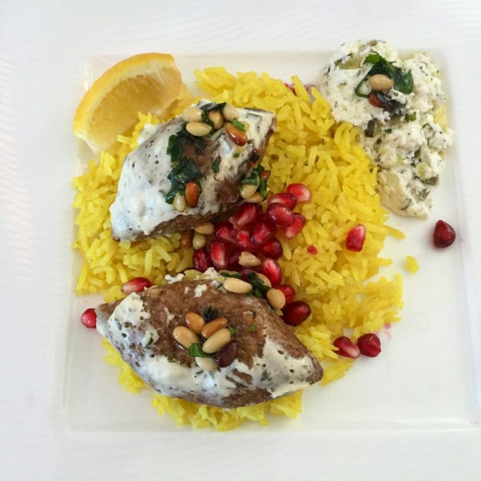 Persian lamb kofta with saffron rice